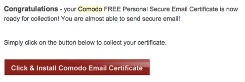 Comodo Certificate